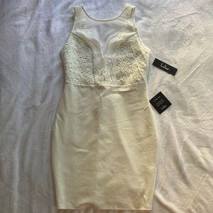 Lulus White Lace Bodycon Dress